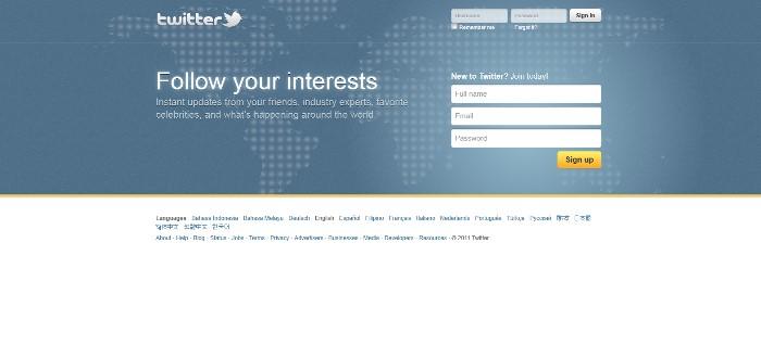 Twitter Splash